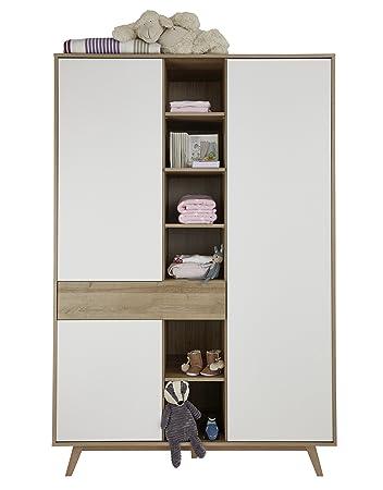 trendteam smart living babyzimmer kleiderschrank schrank boston 128 x 192 x 60 cm in korpus