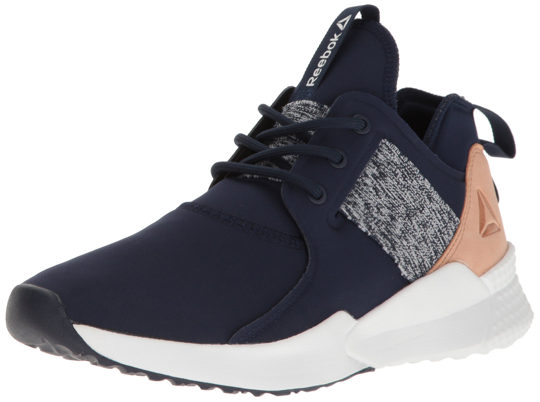 Reebok Women's Pilox 1.0 Dance Shoe, Collegiate Navy/White/Veg Tan, 6 M US