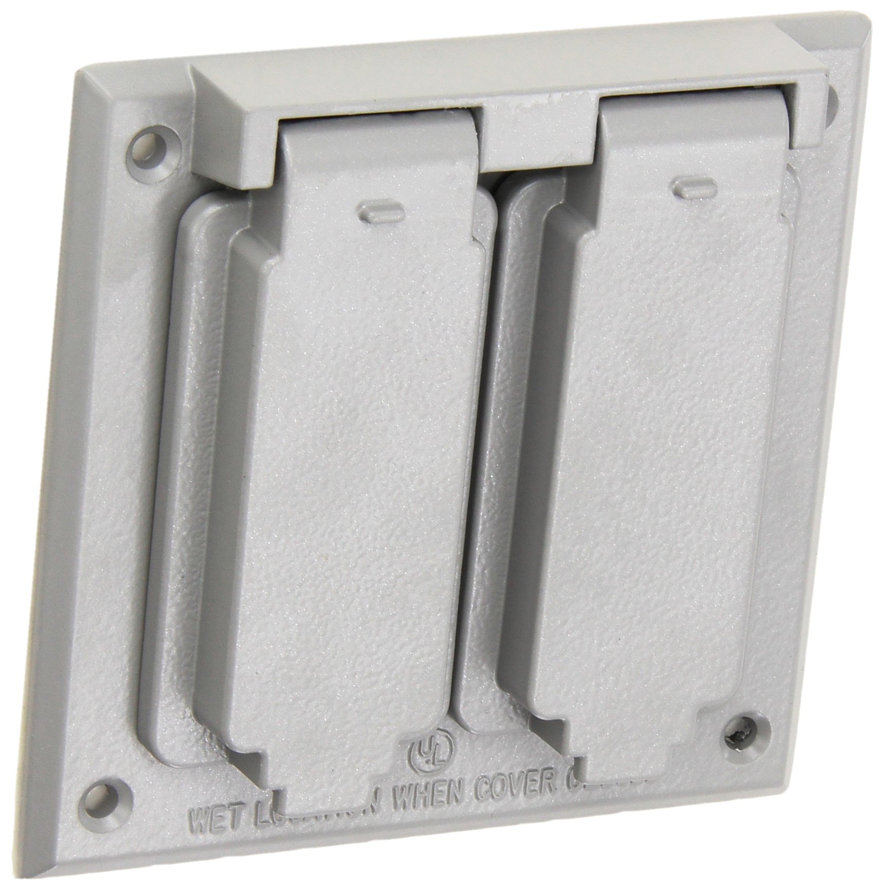 Morris 37220 1 GFCI and 1 Duplex Receptacle 2-Gangs Weatherproof Cover