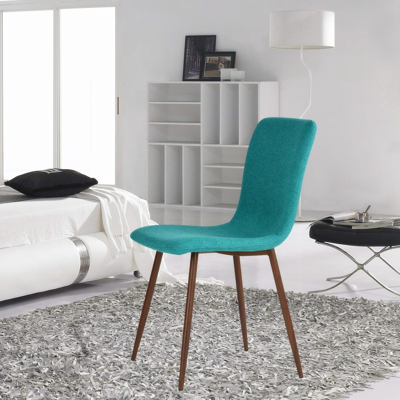Amazon.com: Coavas Set of 4 Kitchen Dining Chairs Fabric Cushion ...