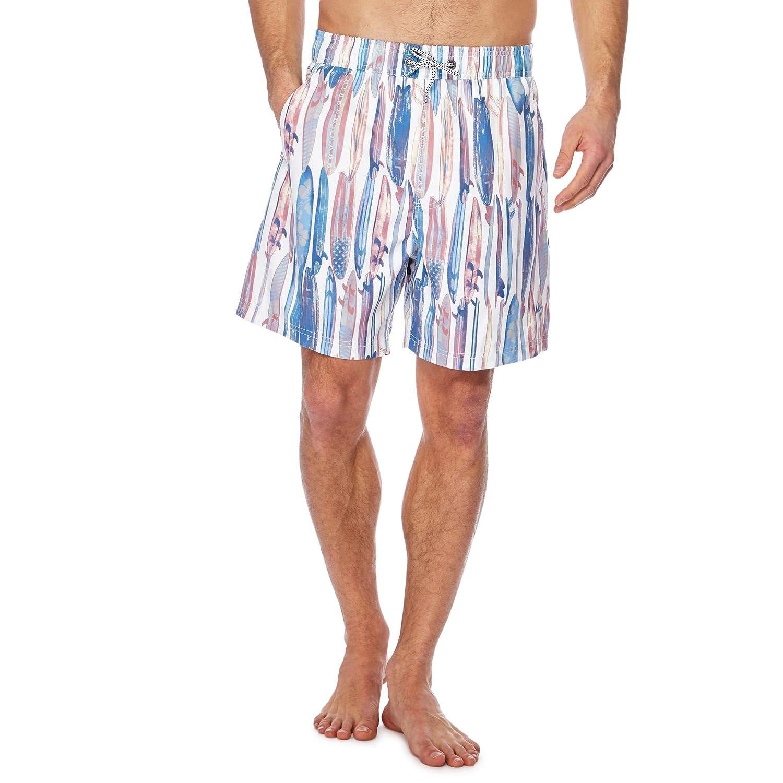 1320514183 Mantaray Men White Surfboard Print Swim Shorts M: Mantaray: Amazon.co.uk:  Clothing