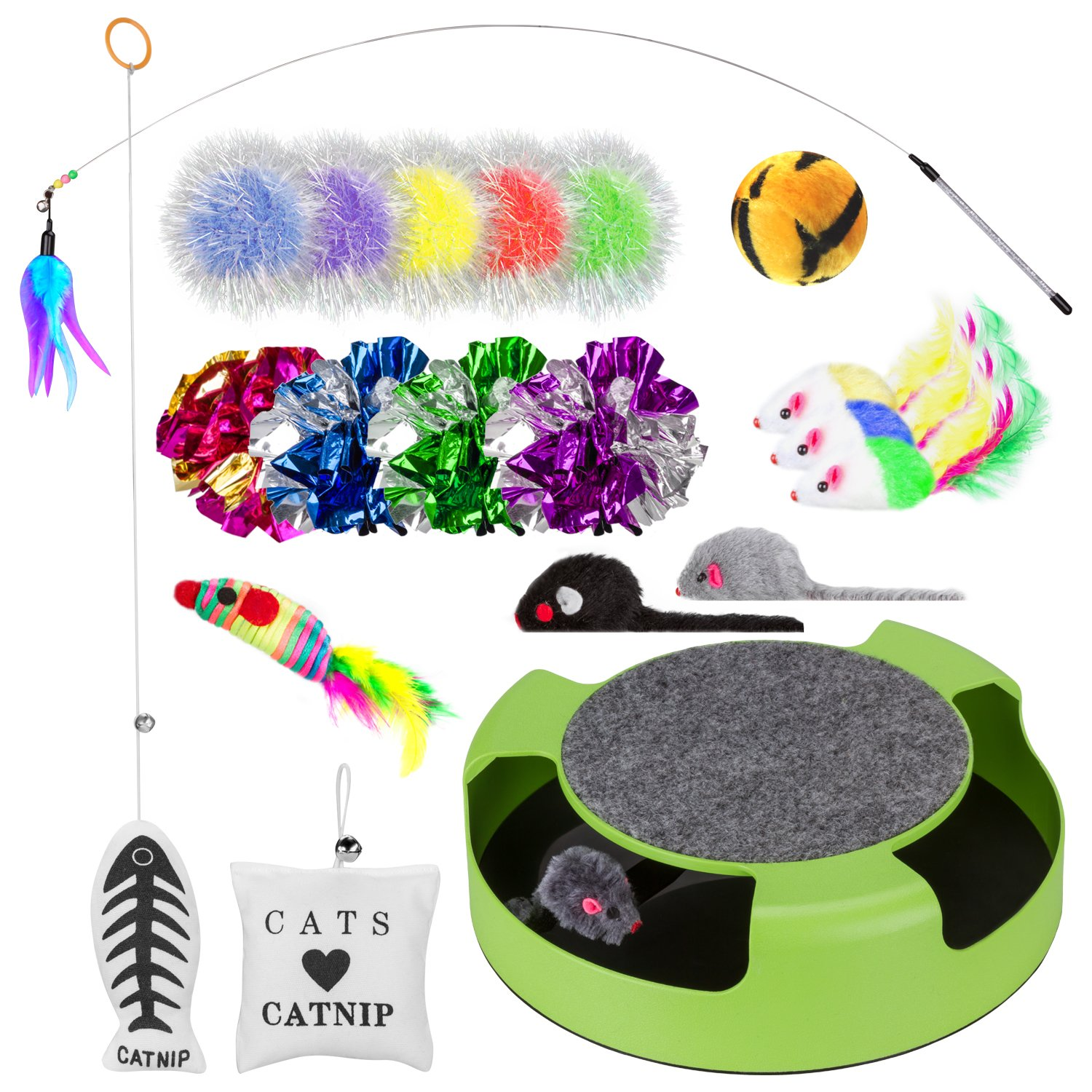 Simply-Me Cat Toys, 20 Pieces Interactive Toys Gift Set for Cats by Simply-Me (Image #1)