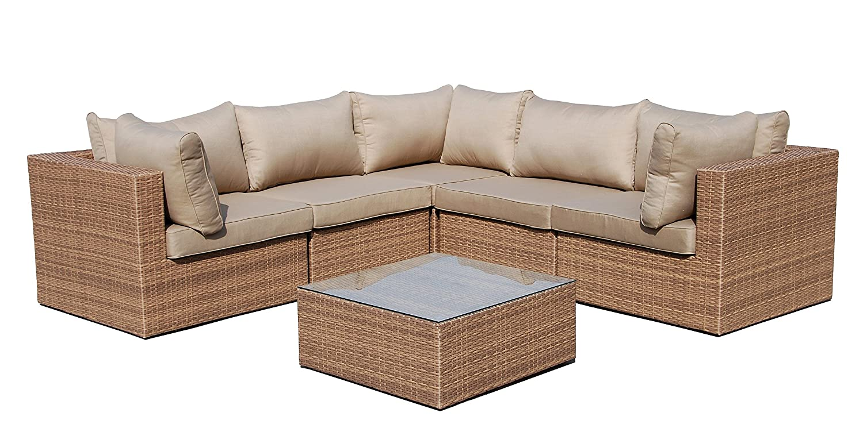 polyrattan lounge 6 tlg inkl kissen gestell aus alu rattan luxus gartenset gartenm bel. Black Bedroom Furniture Sets. Home Design Ideas