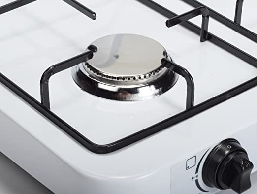 FireFriend KO-6383 Cocina de Gas, 3 quemadores, Metal, Blanco