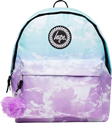 2db9226f6df Image Unavailable. Image not available for. Colour  Hype Backpack Bag -  Pastel Clouds Pom Pom Rucksack - Bags   Backpacks For Boys and