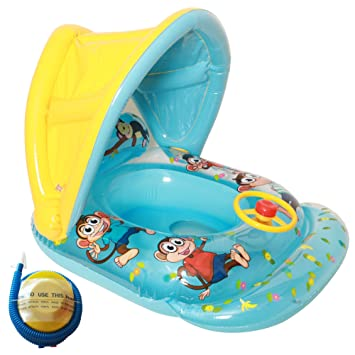 Flotador hinchable para bebés, de Raintwo; flotador con dibujos de monos, diseño de
