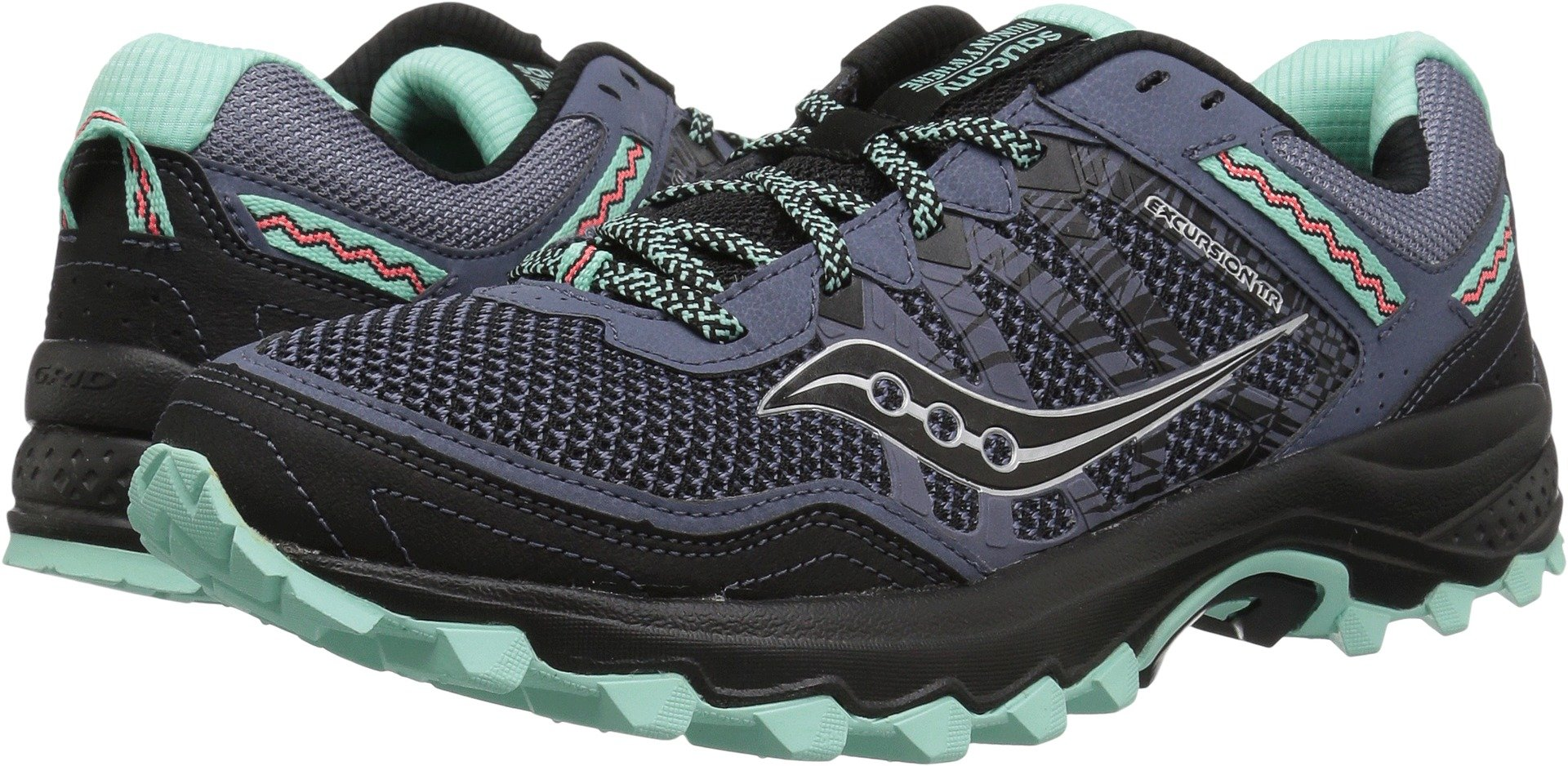 Saucony Women's Excursion TR12 Sneaker, Aqua/Black, 10 M US