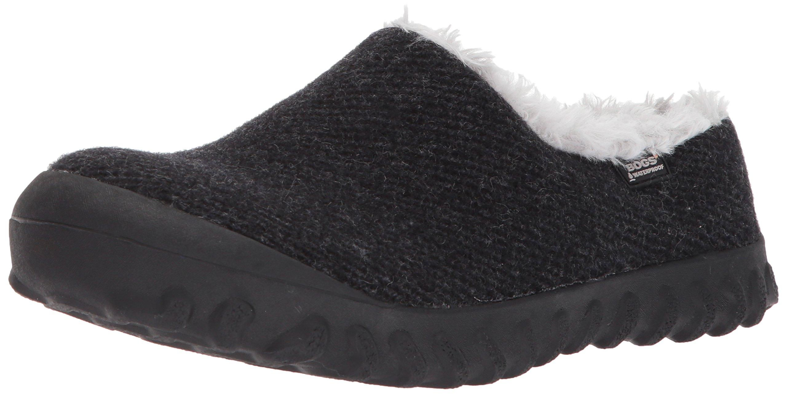 Bogs Women's Bmoc Slip on Wool Snow Boot, Black, 9 M US