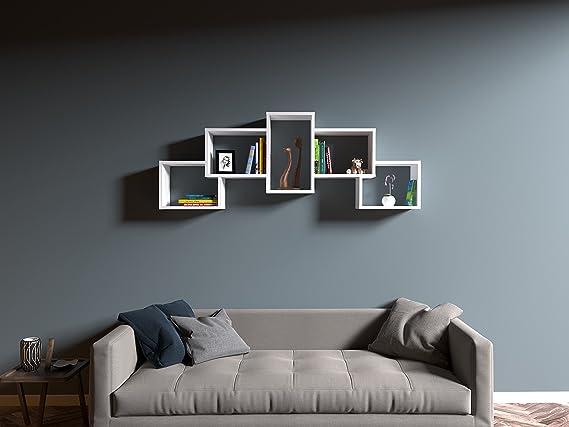 BERRIL Mensola da muro - Bianco - Mensola Parete - Mensola Libreria ...