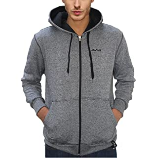 b05023798b2 AWG - All Weather Gear Men s Melange Cotton Blended Grindle Sweatshirt with  Zip