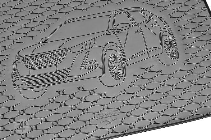 Tapis de Coffre Bac de Protection Antiderapant en Caoutchouc sur Mesure Peugeot 207 2006-2020 Hatchback