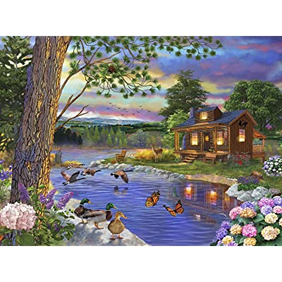 Peace River 1000 pc Jigsaw Puzzle by SUNSOUT INC: Toys & Games