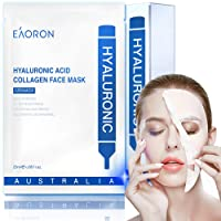 EAORON Facial Mask Hyaluronic Acid Collagen Face Mask, EAORON Mask Australia Made, Facial Mask sheet, Full Face Mask Paper Sheet, un Korean skin care, beauty woman, Serum for face, Deep Hydrating,