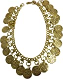 Indian Traditional Belly Dance Ghungroo Gold-Toned Brass Coin Anklet