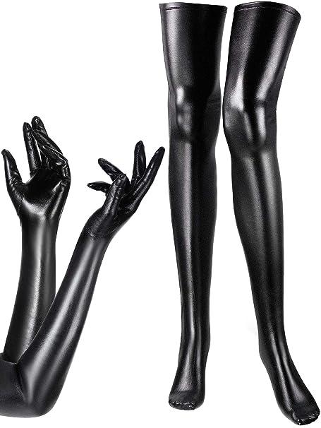 Amazon.com: Conjunto de disfraz de mujer de licra elástica ...