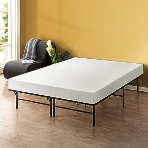 Best Price Mattress - 8 Inch Memory Foam Mattress and 14 Inch Premium Steel Bed Frame/Platform Bed Set, Queen
