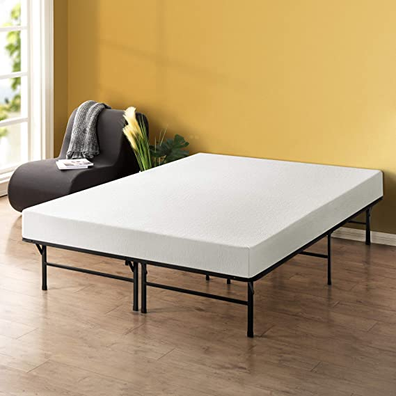 Best Price Mattress - 8 Inch Memory Foam Mattress and 14 Inch Premium Steel Bed Frame/Platform Bed Set
