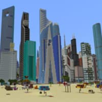 Dubai MEGAPOLIS Map For Minecraft PE