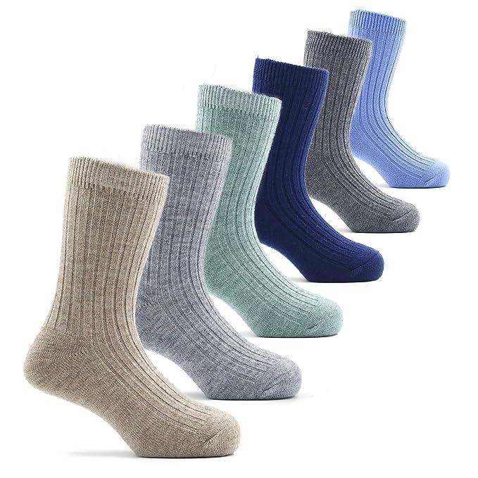 Toddler Boys Wool Socks Kids Crew Seamless Winter Warm Socks 6 Pack 1 2  1660c33caf75