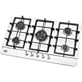 b95ff52f2589 NJ-903S Built-in Gas Hob 86cm 5 burners Stainless Steel Surface LPG Front