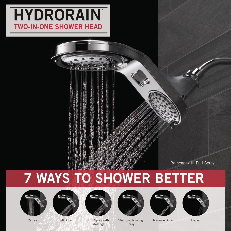 Amazon.com: Delta 58580-PN-PK HydroRain 5-Spray Touch Clean 2-in-1 ...