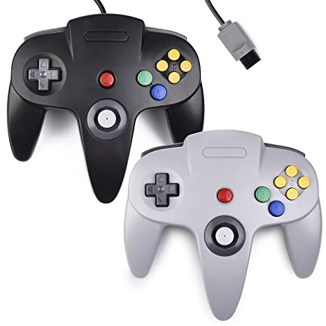 000ce7e8 Amazon.com: 2xClassic N64 Controller,kiwitata Retro Wired N64 Gamepad  Controller Joystick for N64 Video Console Games System Black+Gray:  Computers & ...