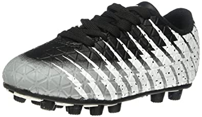 2e91b9b9c Vizari Baby Bolt FG Black/White/Silver Size 8 Soccer Shoe, Regular US