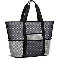 Bertasche Strandtasche XXL Strandtasche Groß mit Kühlfach Reißverschluss für Baden Shopper Urlaub Reise Picknick