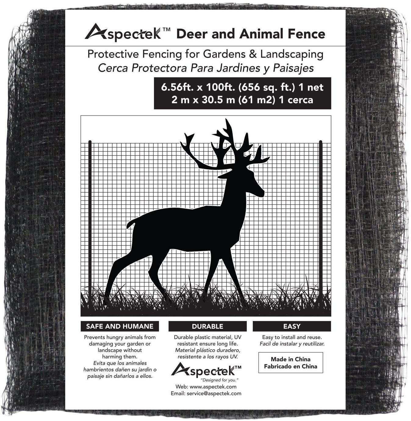 Aspectek Deer and Animal Fence Netting 7ft x 100ft