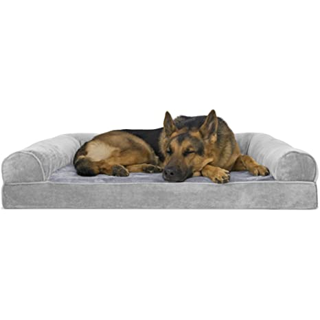 Amazoncom Furhaven Pet Dog Bed Orthopedic Faux Fleece