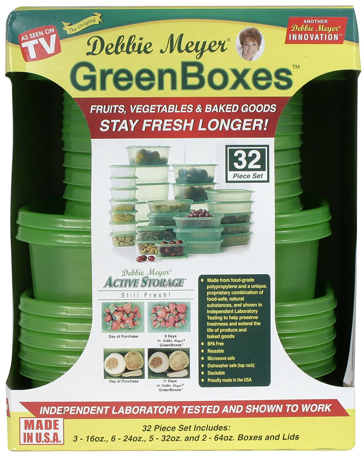 Amazon.com Debbie Meyer 32 Piece UltraLite GreenBoxes - Green Kitchen u0026 Dining  sc 1 st  Amazon.com & Amazon.com: Debbie Meyer 32 Piece UltraLite GreenBoxes - Green ...