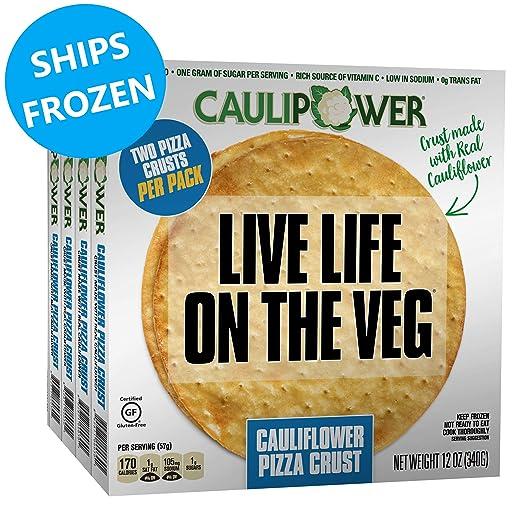 CAULIPOWER Plain Cauliflower Pizza Crusts, Gluten Free, Non-GMO, Lower Carb  (8 Crusts)
