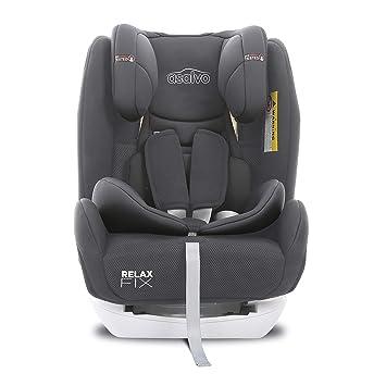 Asalvo - Silla de coche grupo 0123 Relax Fix, Color Gris: Amazon.es: Bebé