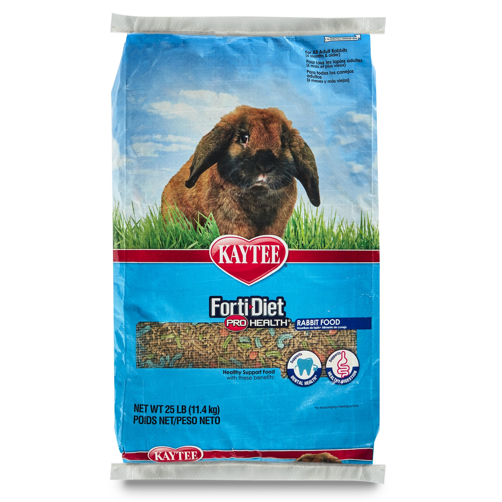 Kaytee Forti Diet Pro Health Rabbit Food For Adult Rabbit, 25-Pound
