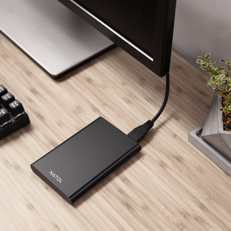 NATOL USB 3.0 Festplattengehäuse, Externes 2.5\