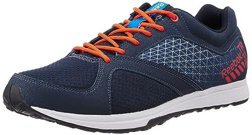 886e98c99364 Reebok Men s Train Navy Blue and Orange Running Shoes - 7 UK  Buy ...