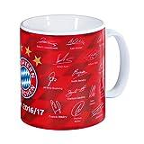 """FC Bayern Tasse """"Unterschriften 2016/17"""" 20737"""