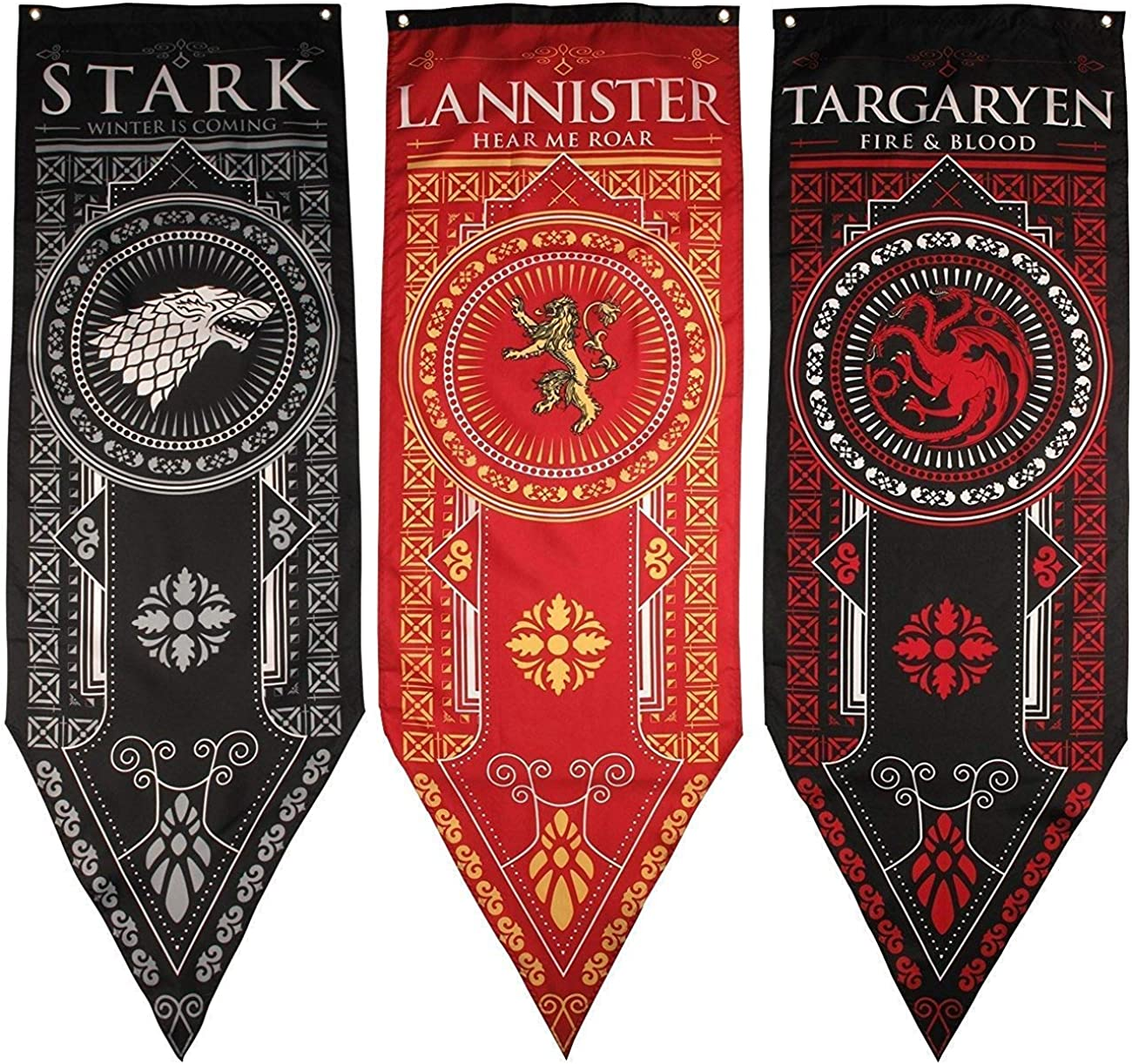 Game of Thrones House Banner 3pk, House Stark, Targaryen, Lannister