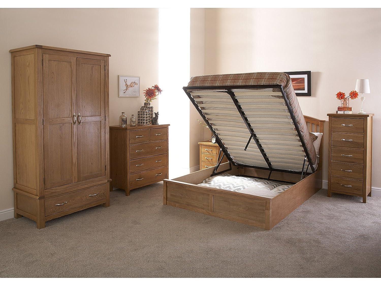 Como Wooden Ottoman Storage Bed - Oak or White - 4ft6 Double or 5ft  Kingsize ( - Wooden Ottoman Storage Bed Double Storage Bed Zoe Kelsey Stores