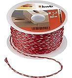 KWB filo da muratore 50m, 1,2mm, rosso, 9251–25