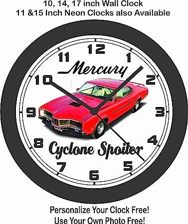 amazon jim s classic clocks 1970 mercury cyclone spoiler big 10 1973 Mustang Mach 1 Restoration jim s classic clocks 1970 mercury cyclone spoiler big 10 inch wall clock free usa ship