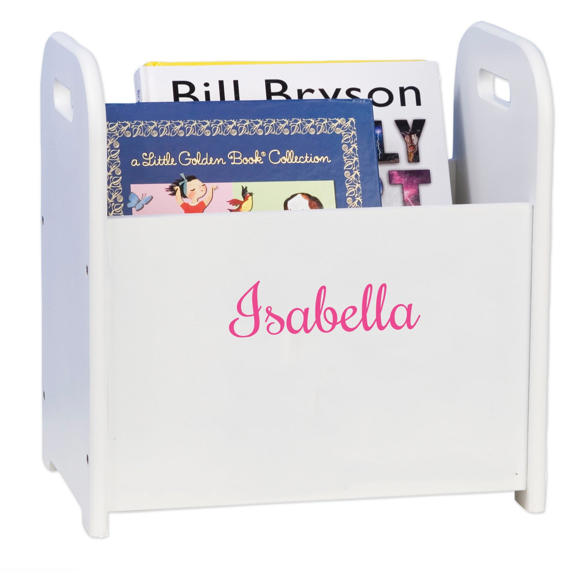 MyBambino Personalized Girls with name only Book Holder and Rack