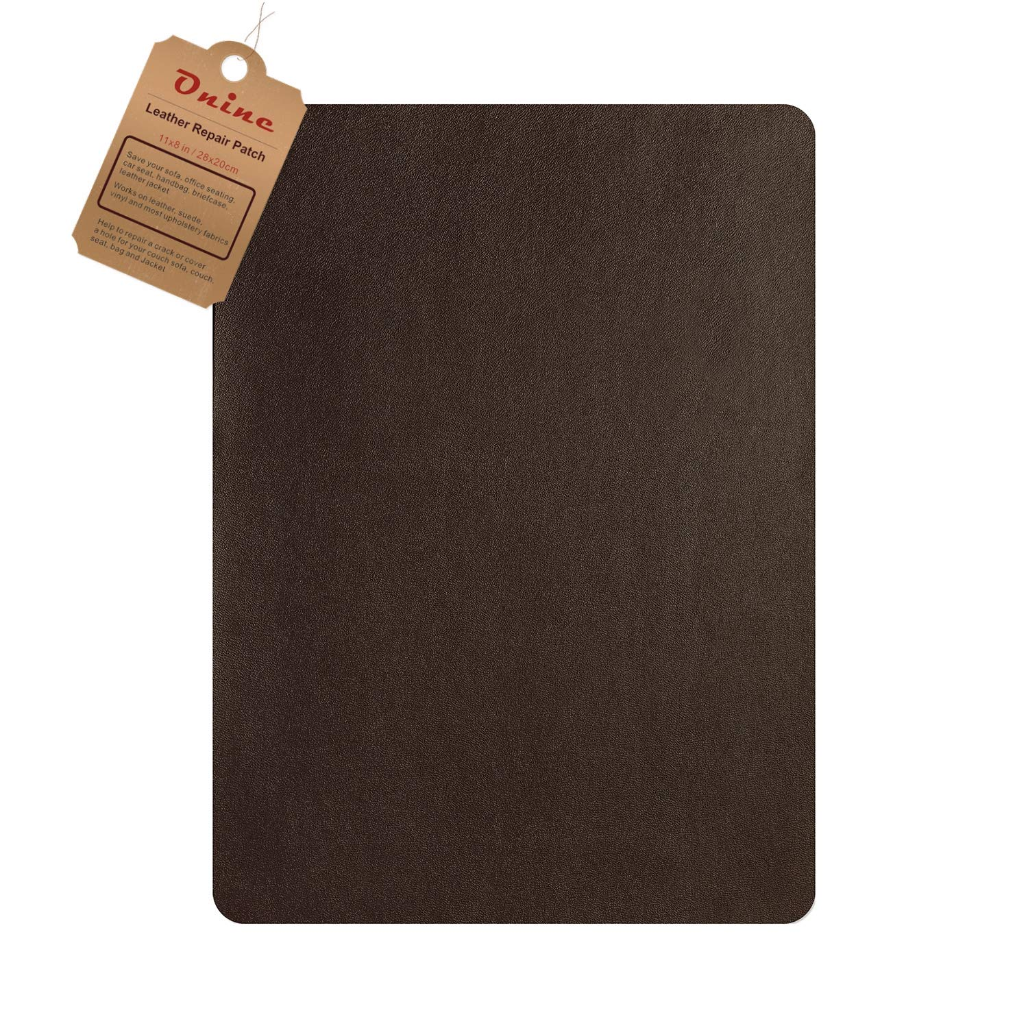 Leather Repair Patch,Self-Adhesive Couch Patch,Multicolor Available Anti Scratch Leather 8X11 Inch Peel and Stick for Sofas car Seats Hand Bags Jackets Dark Brown No.5