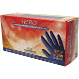 Adenna Hero 14 mil Latex Powder Free Exam Gloves (Blue, Medium) Box of 50