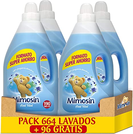Mimosin Concentrado Suavizante Azul Vital 190lav x 4botellas