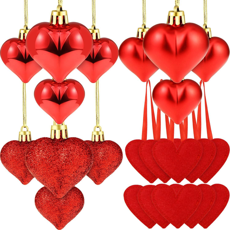 Shatterproof Heart Ornaments 20 – 29 Count