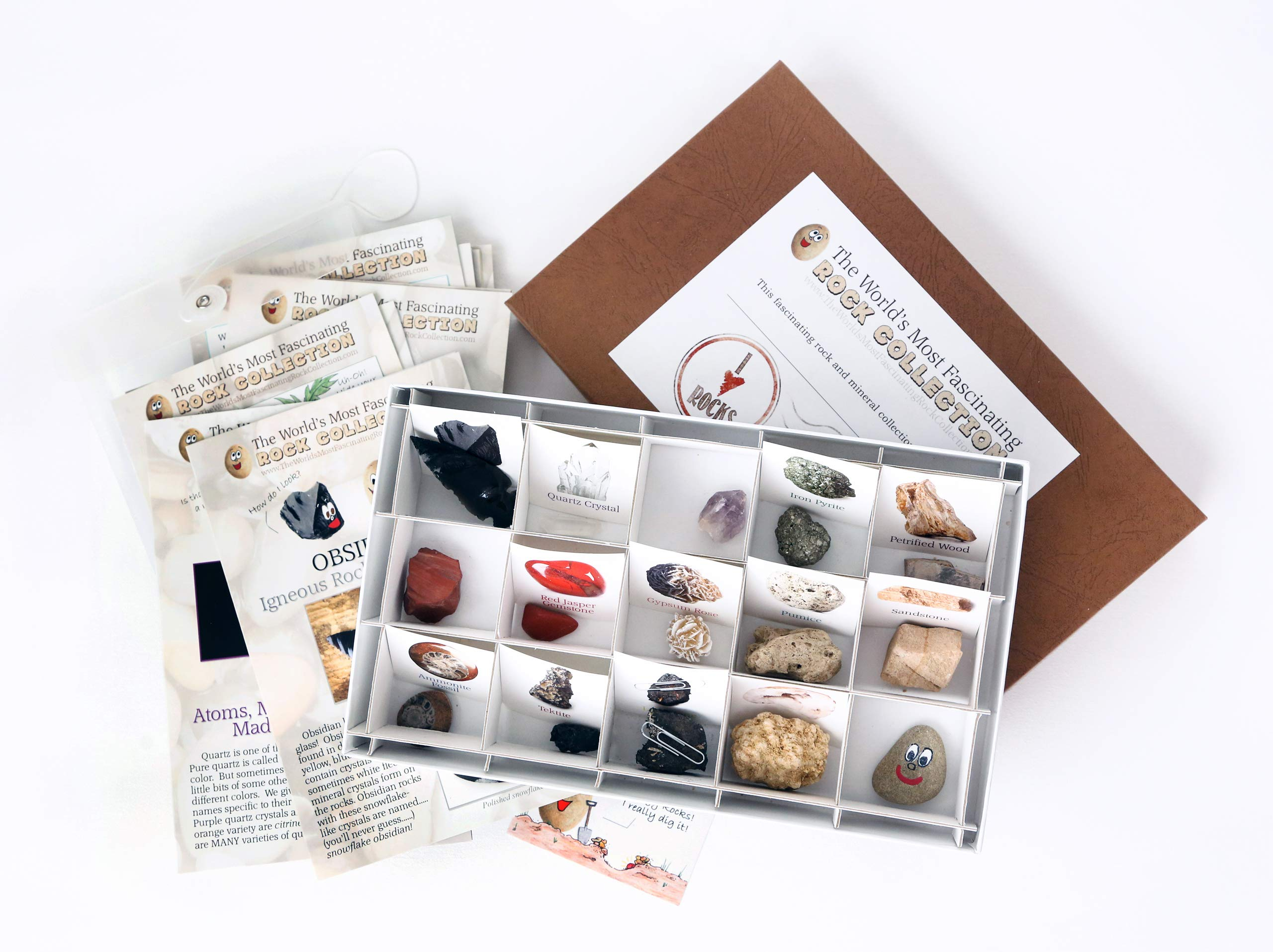 The World's Most Fascinating Rock Collection: Fun and Educational Read/Activity Based Rock and Mineral Kit (Boxed Set) by The World's Most Fascinating Rock Collection