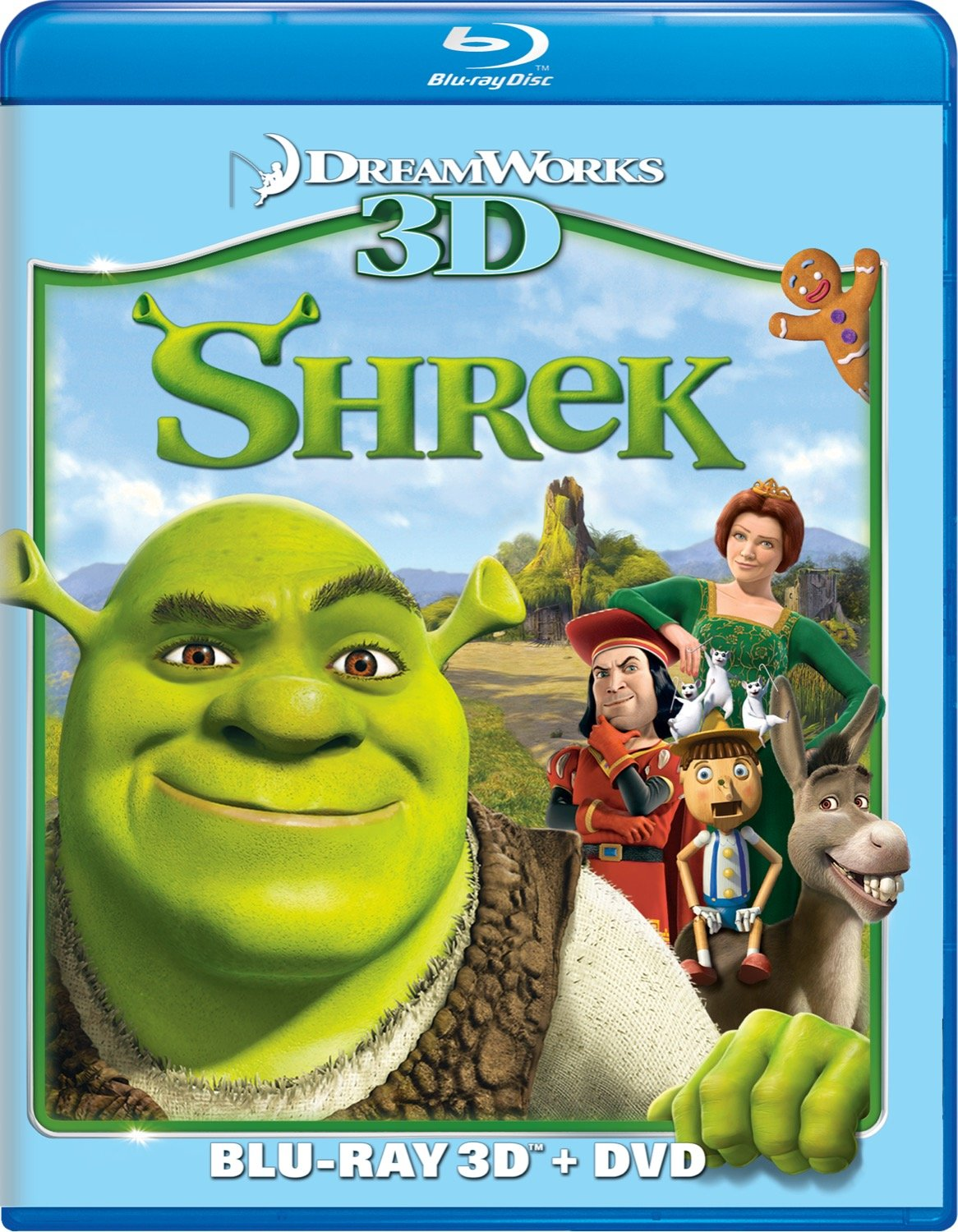 Amazon Com Shrek Two Disc Blu Ray 3d Dvd Combo Mike Myers Eddie