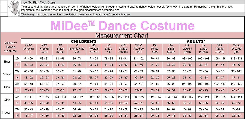 MiDee Girls Dance Costume Ballet Biketard Camisole Sequin Dress CC2997