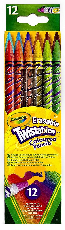 Crayola - 68-7508-E-000 - 12 Crayons De Couleurs - Twistables Et Gommables